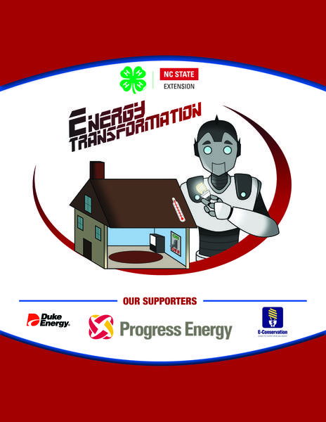 Energy Transformation curriculum title page