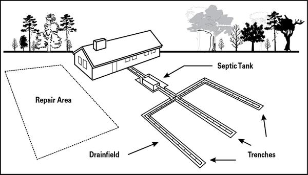 Figure 1. A conventional septic system.