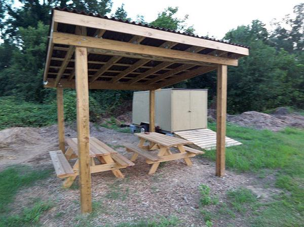 Photo of shelter with picnic tables