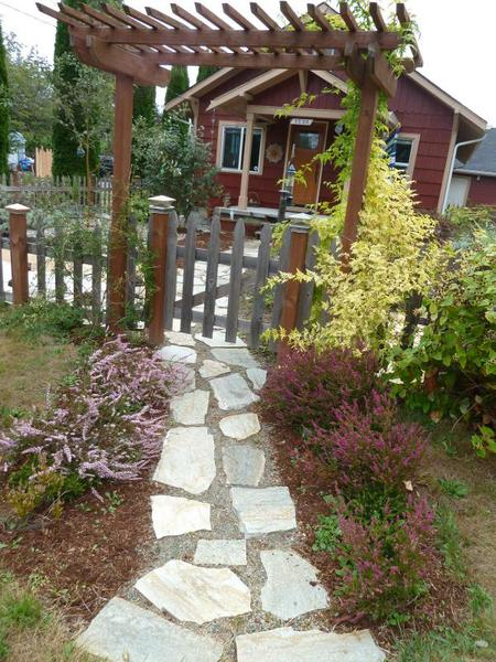 walkway to front door