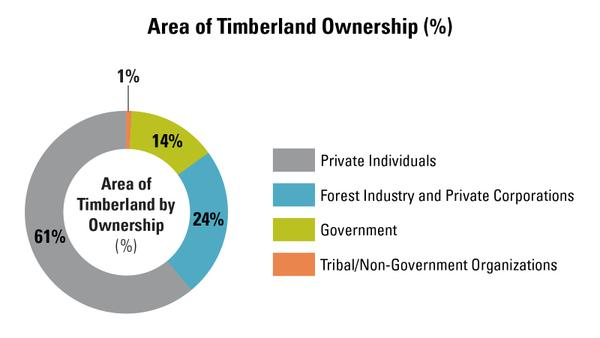 Figure 3. 60% of NC is capable of producing timber.
