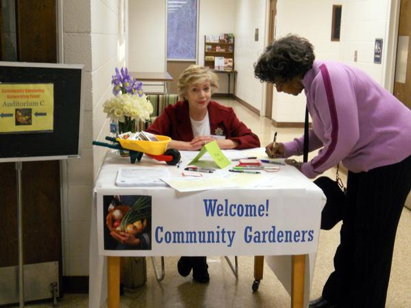 Photo of community garden meeting in Forsyth County