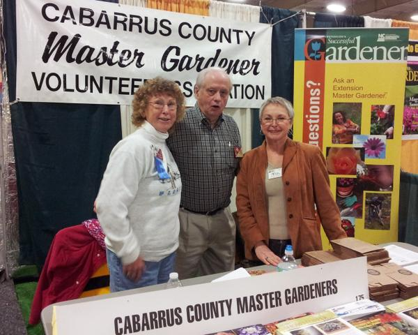 NC State EMGVs in Cabarrus County staffing an exhibit booth.