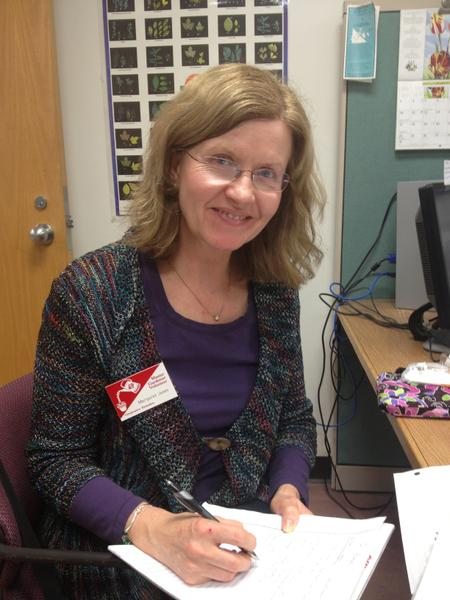 Photo of master gardener volunteering in the Wake County office