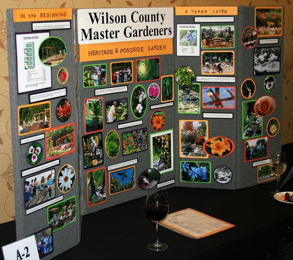 Photo of master gardener display with many photos