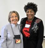 Photo of master gardener mentor and intern