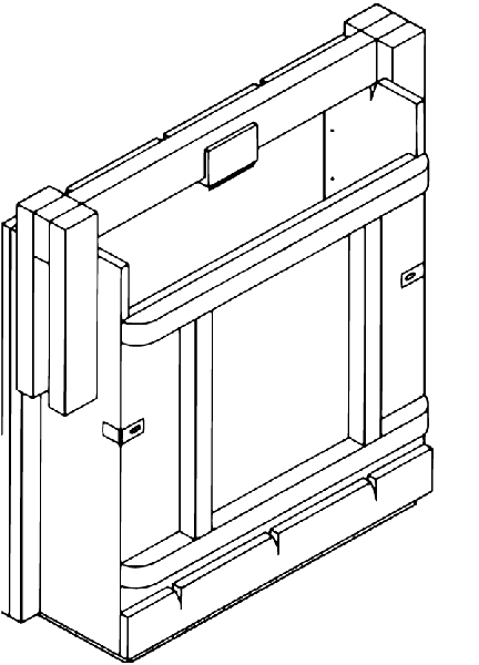 Illustration of a one-box bale press
