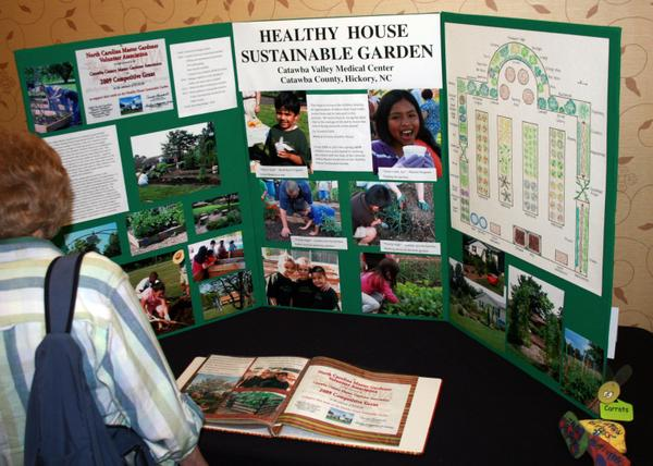 Photo of exhibit display in Catawba County