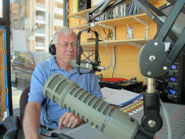 Photo of an MGV hosting a radio show