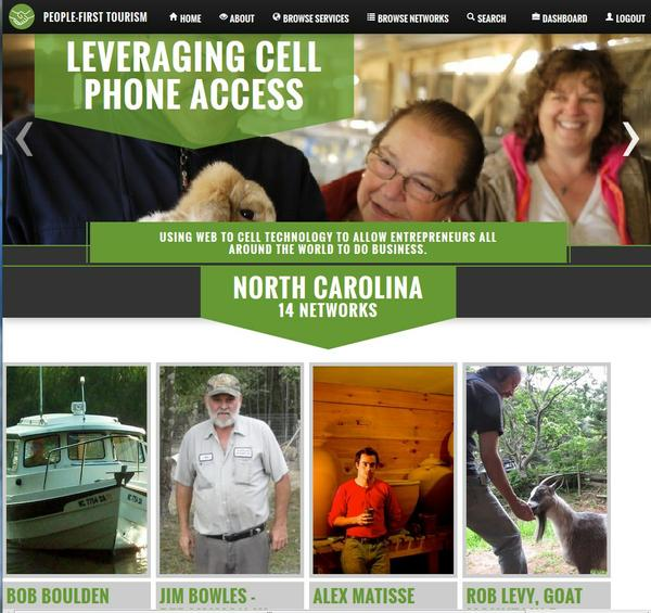 Screenshot showing the North Carolina home page.