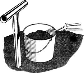 Figure 2. Use proper tools to collect the soil sample.