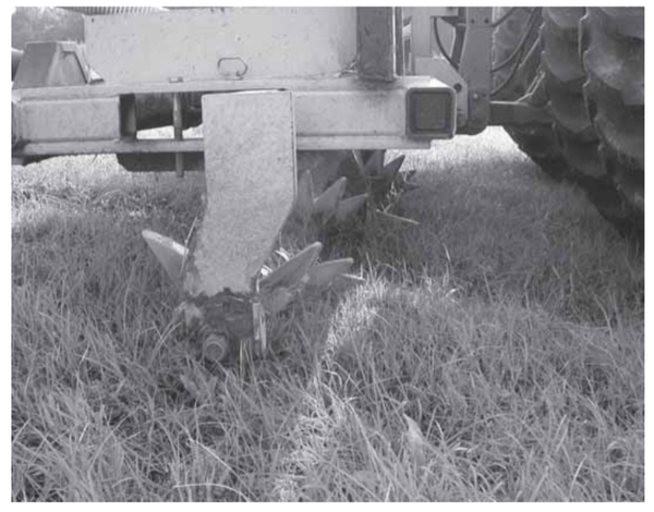 Figure 3. Aeration unit showing tines (knives).