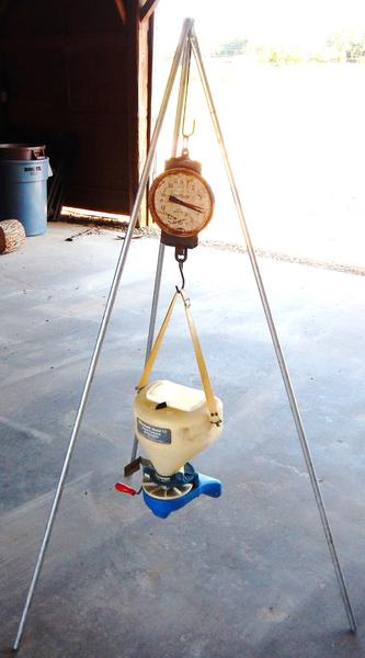Figure 7. A milk scale, or a similar scale, can be used to weigh