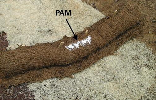 Photo of addition of granular PAM.