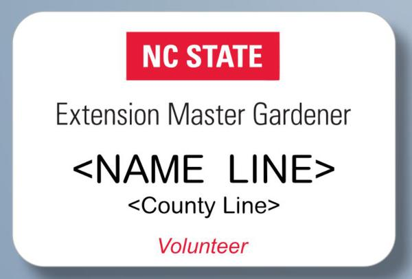 Figure 8. Approved NC State EMG name badge.