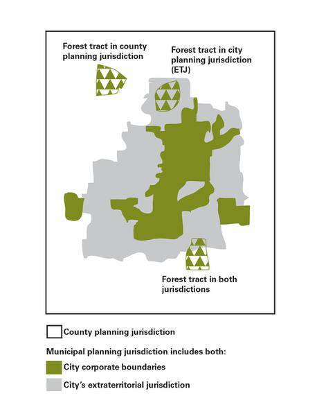 Figure 1. Forestland subject to county and municipal planning ju