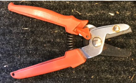 Flat-bladed anvil pruner