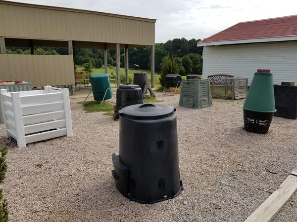 Alt-text: Photo of various types of compost bins.