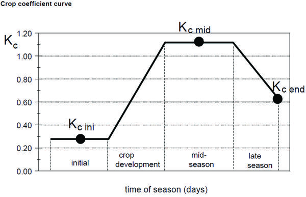 Figure 4. Crop curve development (from Allen et al., 1998).