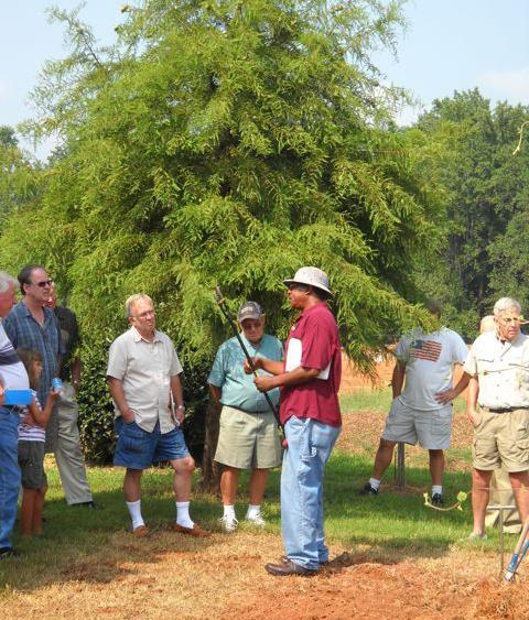 NC State EMGVs at a pruning workshop in Iredell County.