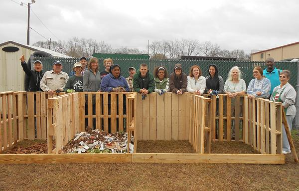 NC State EMGVs composting in Cumberland County.