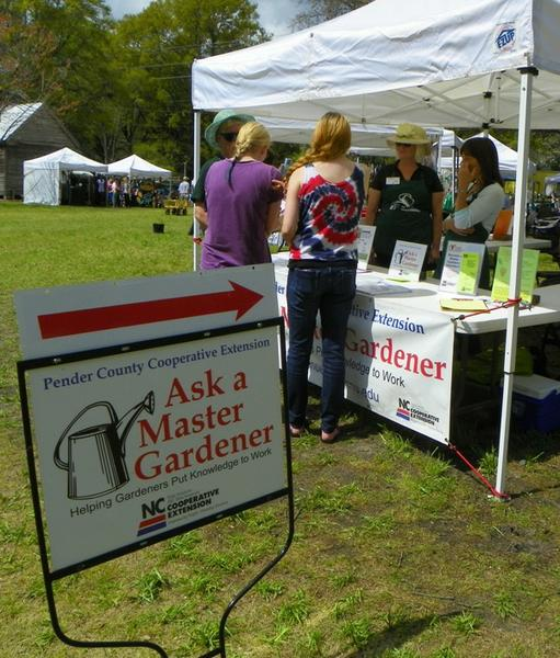 Photo of ask a master gardener booth in Pender County