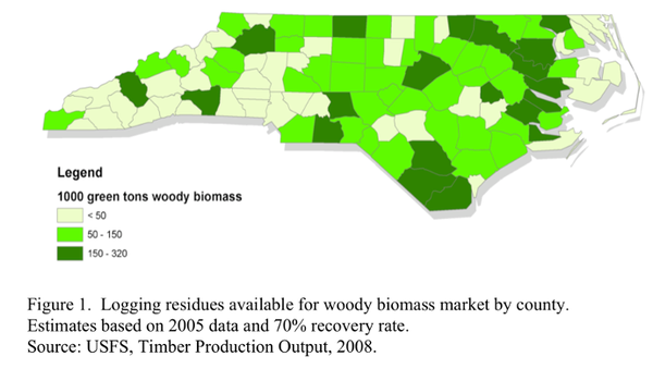 Thumbnail image for Economics of Harvesting Woody Biomass in North Carolina