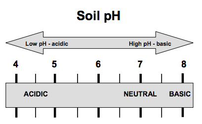 Figure 1. General relationship between soil pH and acidity.