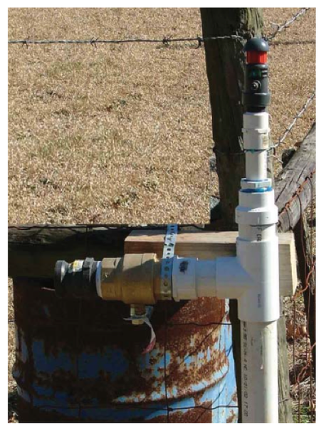 Figure 1. Regular flushing using a flushing riser assembly