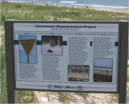 Figure 11. Sign describing project.