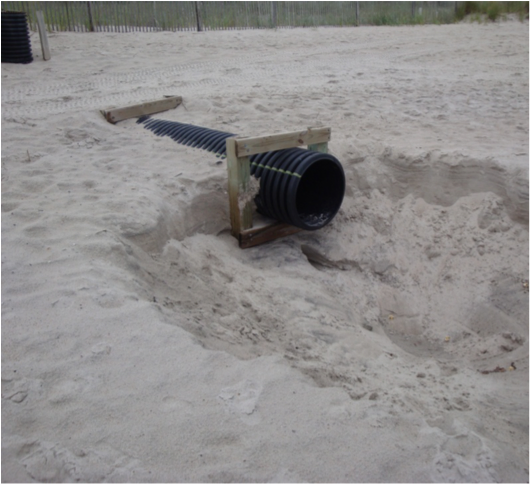 Fig 2. Stormwater discharge pipes are found in many coastal town
