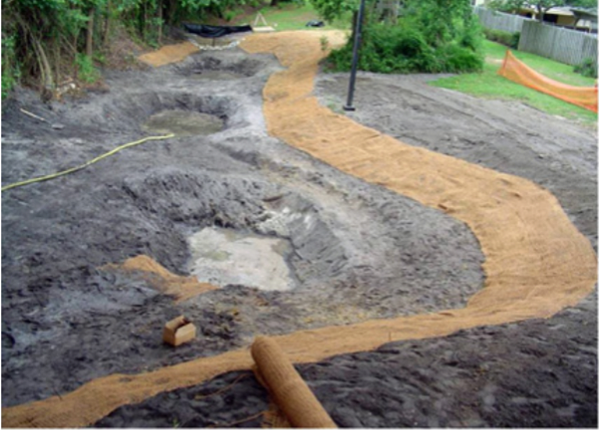 Figure 5. Stabilize the banks each day following excavation