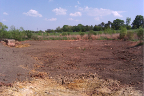 Fig 6. The soils for this stormwater wetland are properly prepar