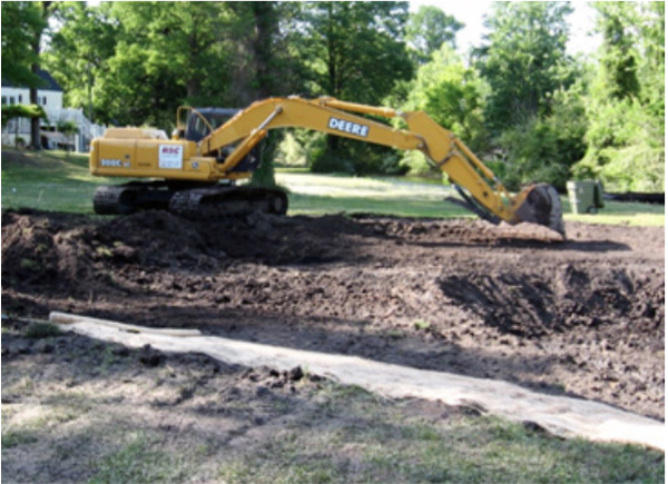 Figure 12. If possible, keep the excavator out of the wetland
