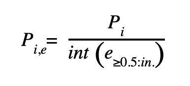 Figure G. Precipitation depth formula.