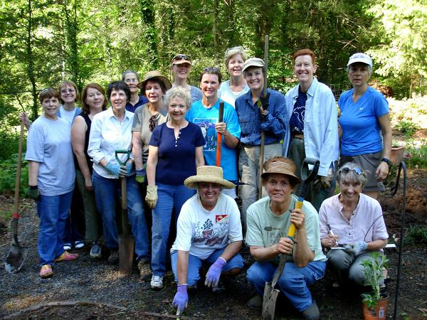 Photo of group of master gardeners in Transylvania County
