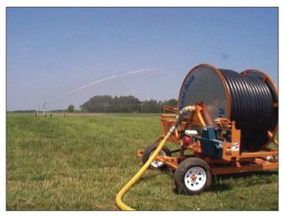 Figure 1. Traveling gun irrigation system.