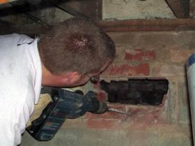 Figure 19. Making a porch accessible from the crawlspace side.