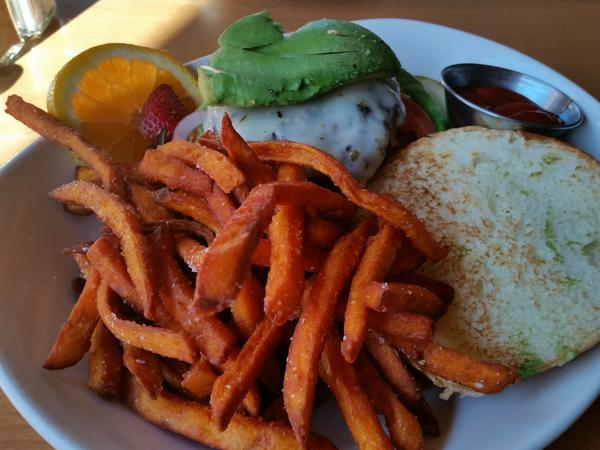 Sweetpotato fries make a sweet side dish.