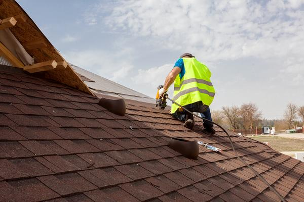 Roofing a home