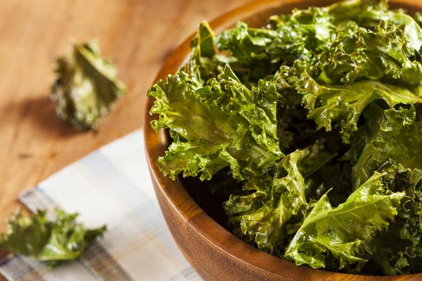 Photo of kale in a bowl.