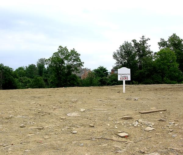 Photo of an empty home site.