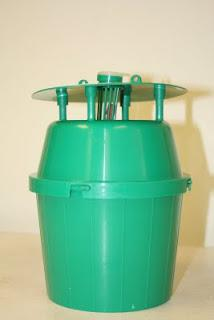 A pheromone bucket trap