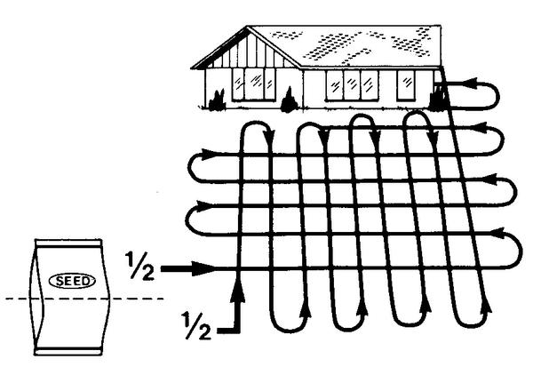 Figure 3. Suggested pattern for applying seed and fertilizer.