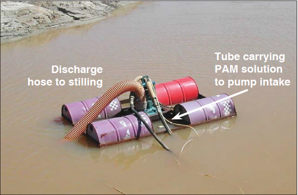 Photo of a floating pump intake