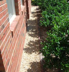 Figure 2. Use a gravel border next to your house foundation to k