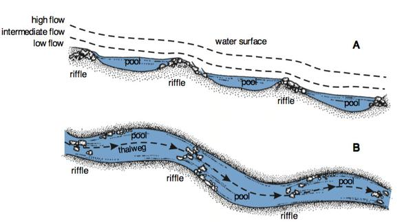 Figure 5. Bed and water surface slope.