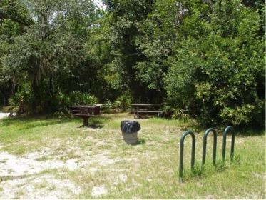 Small picnic area.