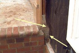 Figure 15. After brick or other siding is in place, it becomes i
