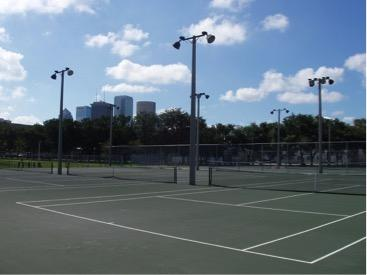 Medium tennis courts.